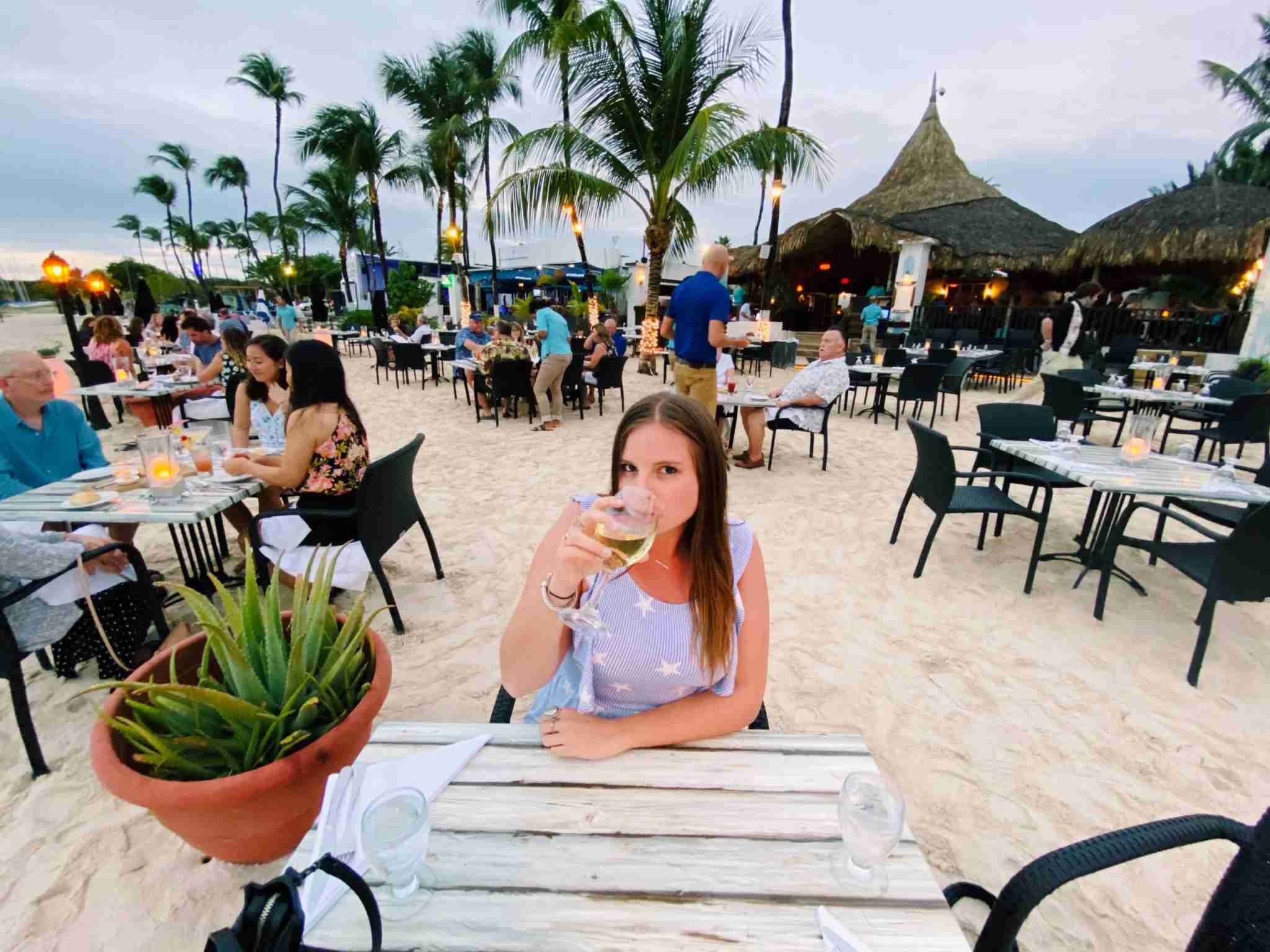 Dining on the beach at Barefoot. Photo courtesy of Samantha Rosen/The Points Guy.