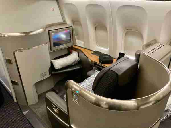 Most of AA's London flights will be operated by the 777-300ER, which offers extra personal space with a dedicated first-class cabin. Photo by Zach Griff/The Points Guy.