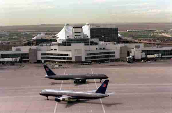 File photo of Denver International Airport This photo shows United jets between Concourse A and Concourse B, facing east. The Jepsen Termininal and the DIA office building show. (Photo By Lyn Alweis/The Denver Post via Getty Images)