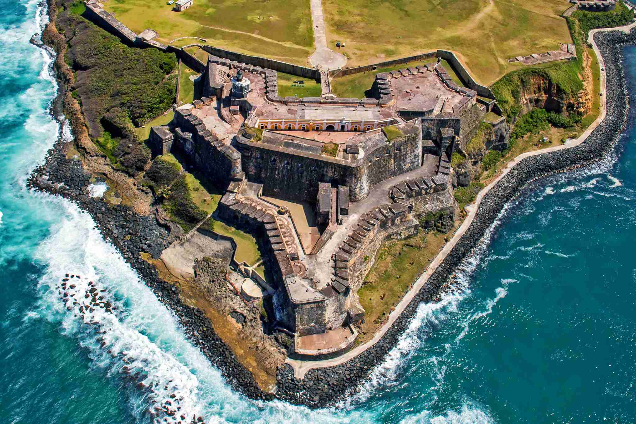 Pay a visit to Castillo San Felipe del Morro in San Juan, Puerto Rico. (Photo by felixairphoto / Getty Images)
