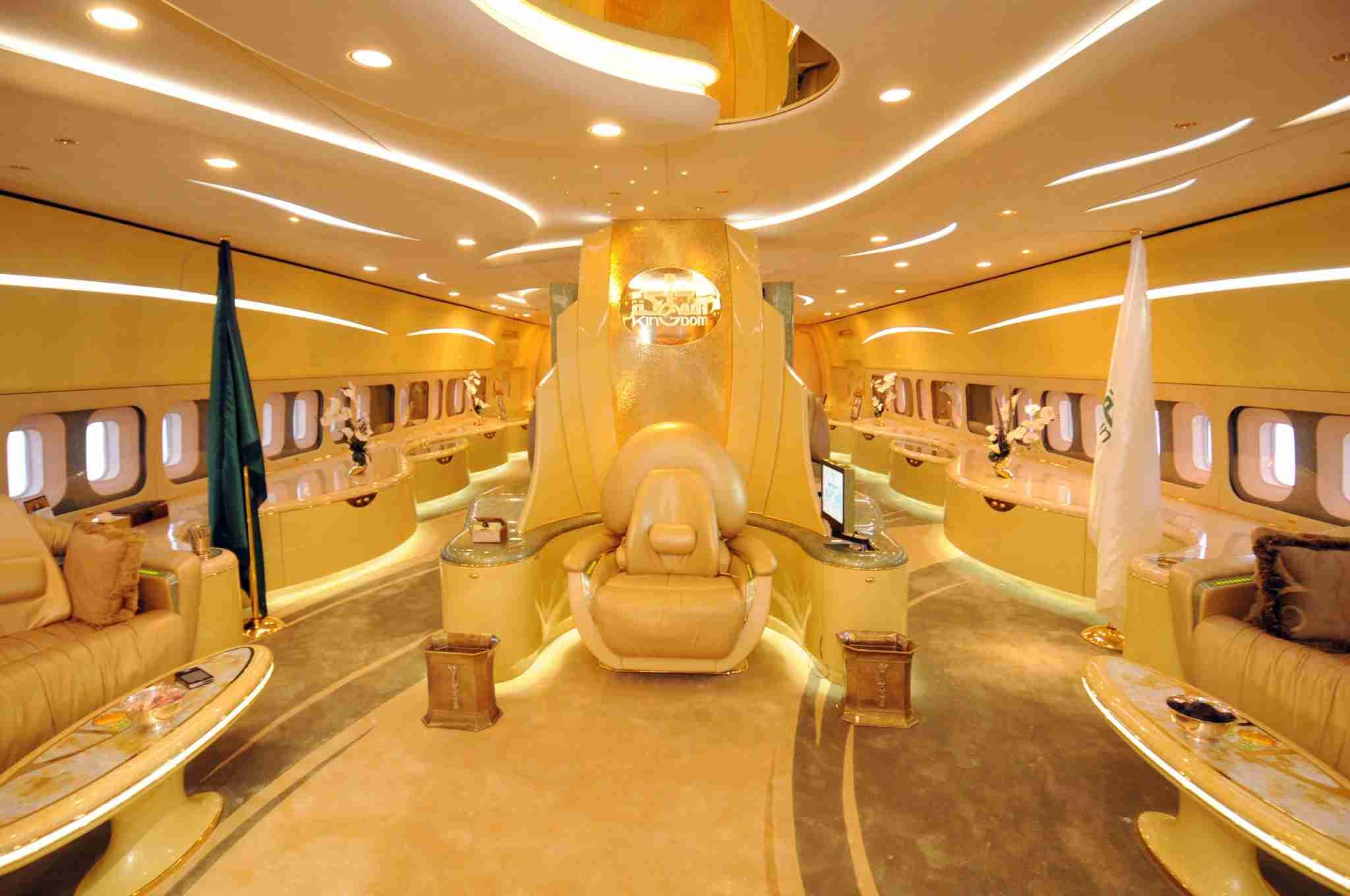 The interior of Saudi Prince Alwaleed bin Talal