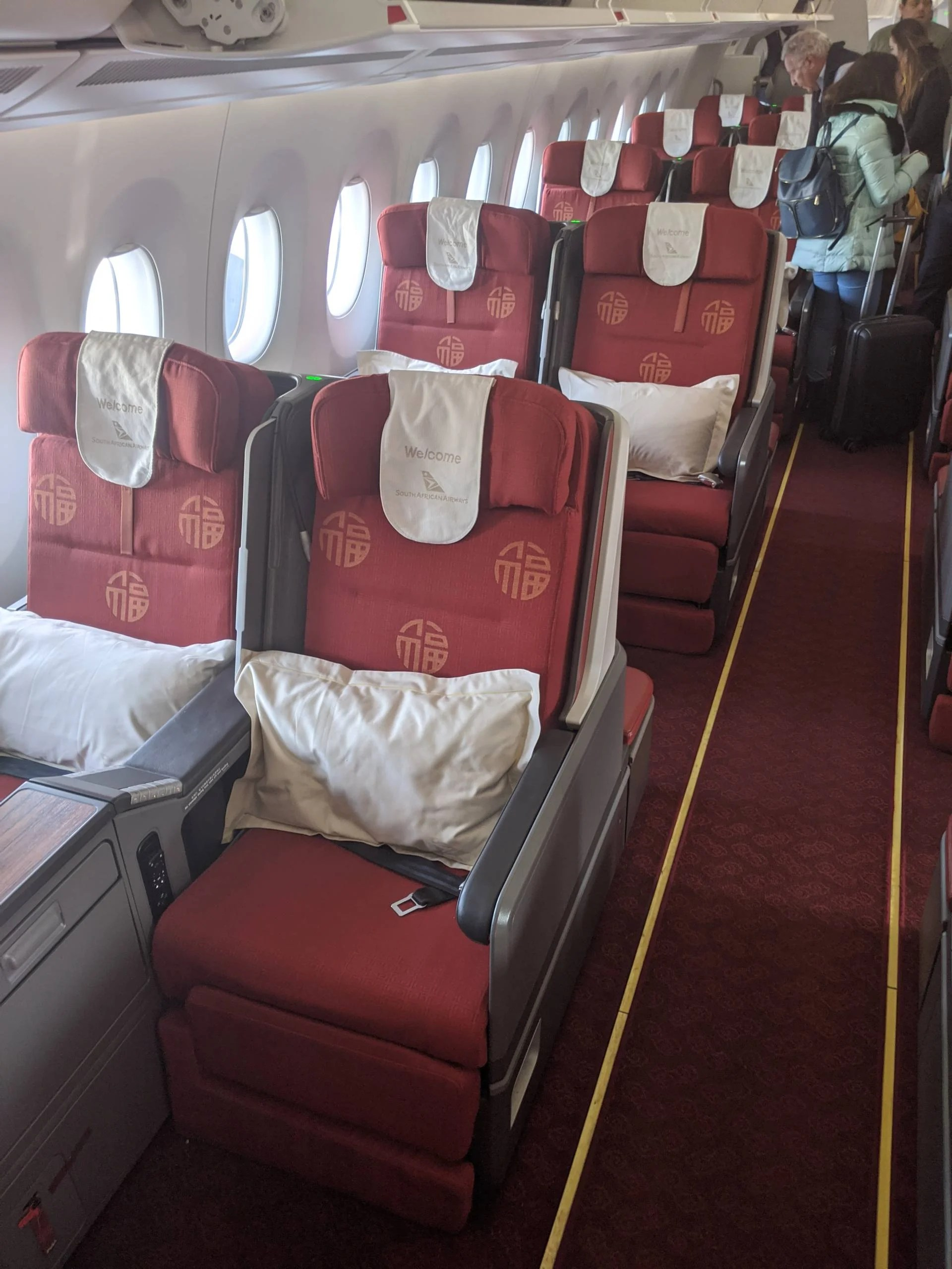 Where's the menu? A review of South African Airways biz class on the A350, New York to Johannesburg