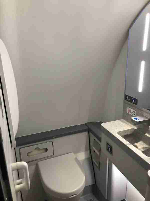 There are no lavatory windows onboard Air Canada