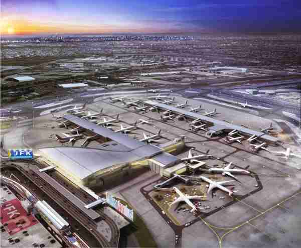 A rendering of an expanded Terminal 8 at New York JFK that will accommodate both American Airlines and British Airways flights. (Image courtesy of American Airlines)