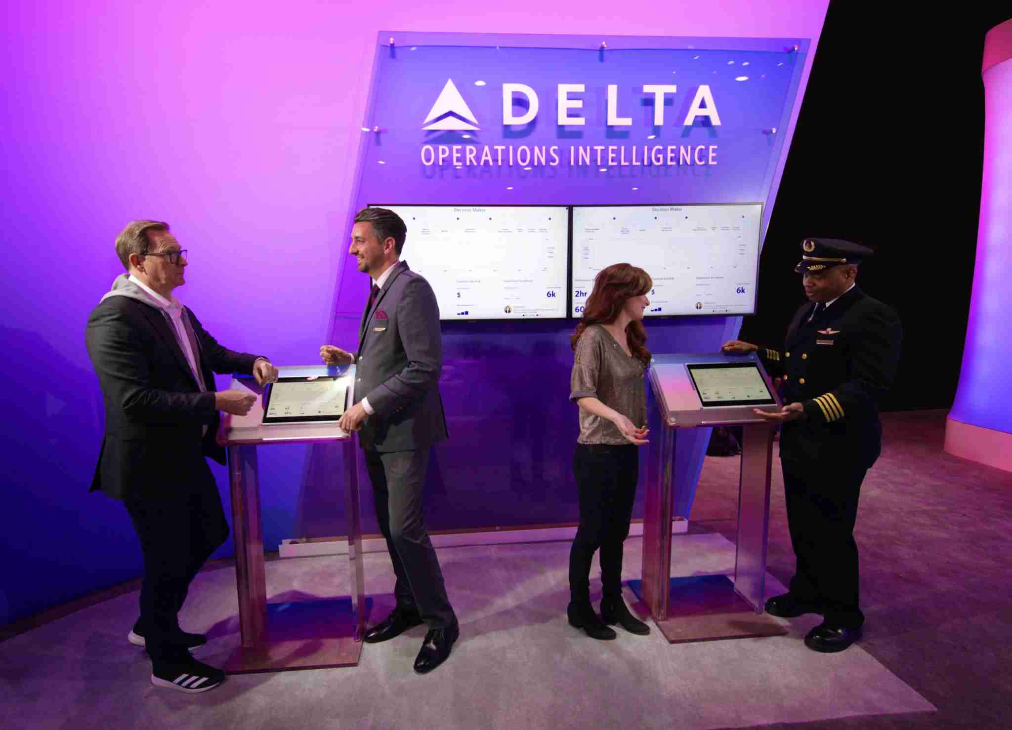 A Delta both at the CES 2020 show in Las Vegas shows off the company