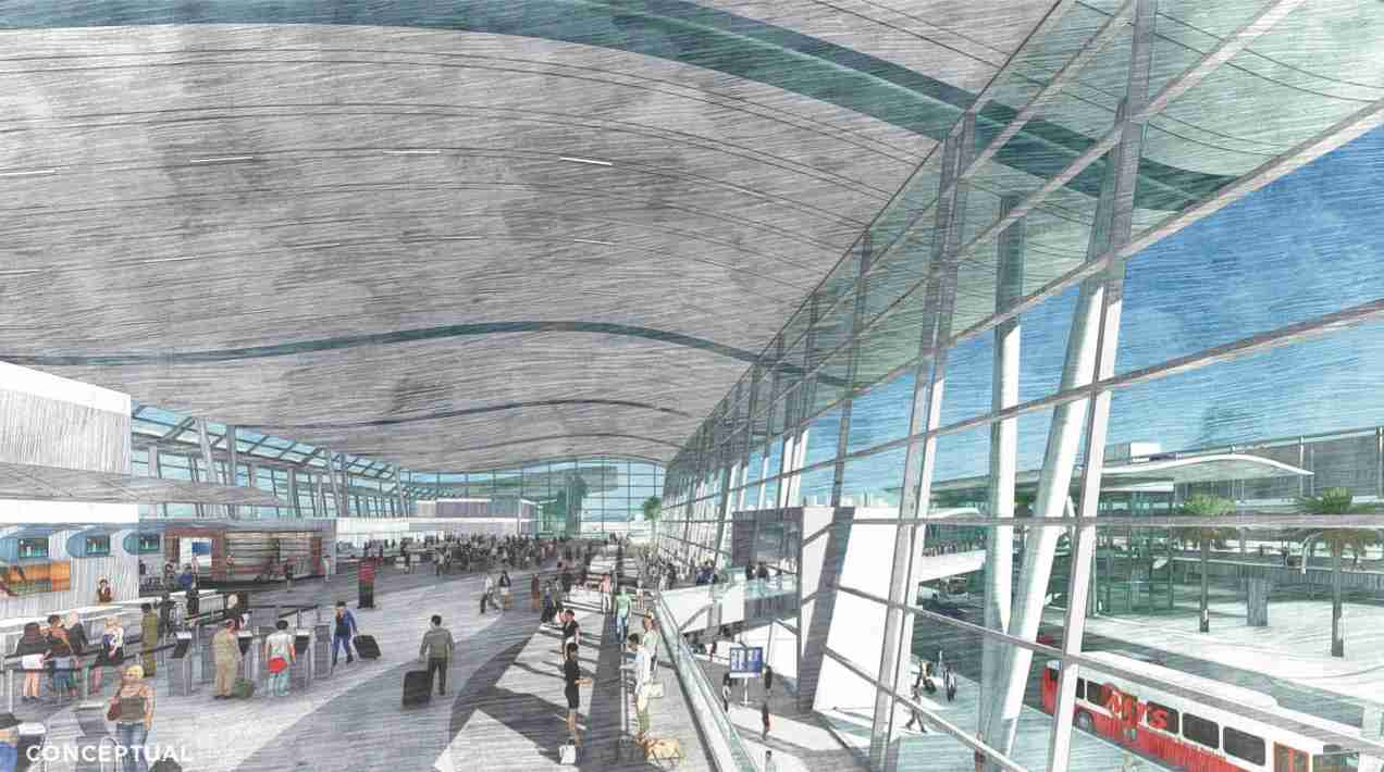 A conceptual rendering of the new Terminal 1 at San Diego International Airport. (Image by San Diego International Airport)