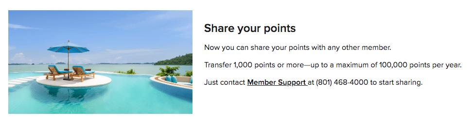 Sharing Marriott points