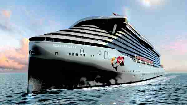 Virgin Voyages' Scarlet Lady initially will sail out of Miami. Image courtesy of Virgin Voyages.