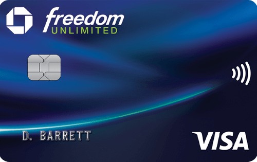 chase freedom unlimited login credit card