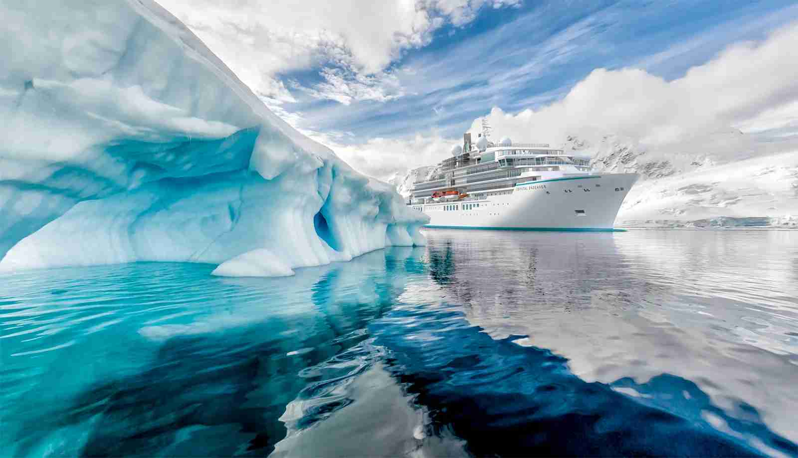 The 200-passenger Crystal Endeavor will sail to Antarctica and other off-the-beaten-path destinations. Image courtesy of Crystal Cruises.