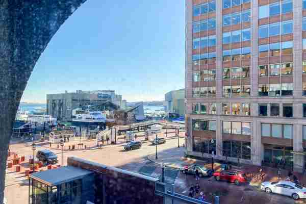View from the room overlooking the Boston Aquarium on the 2nd floor.(Photo by Elizabeth Hund/The Points Guy)