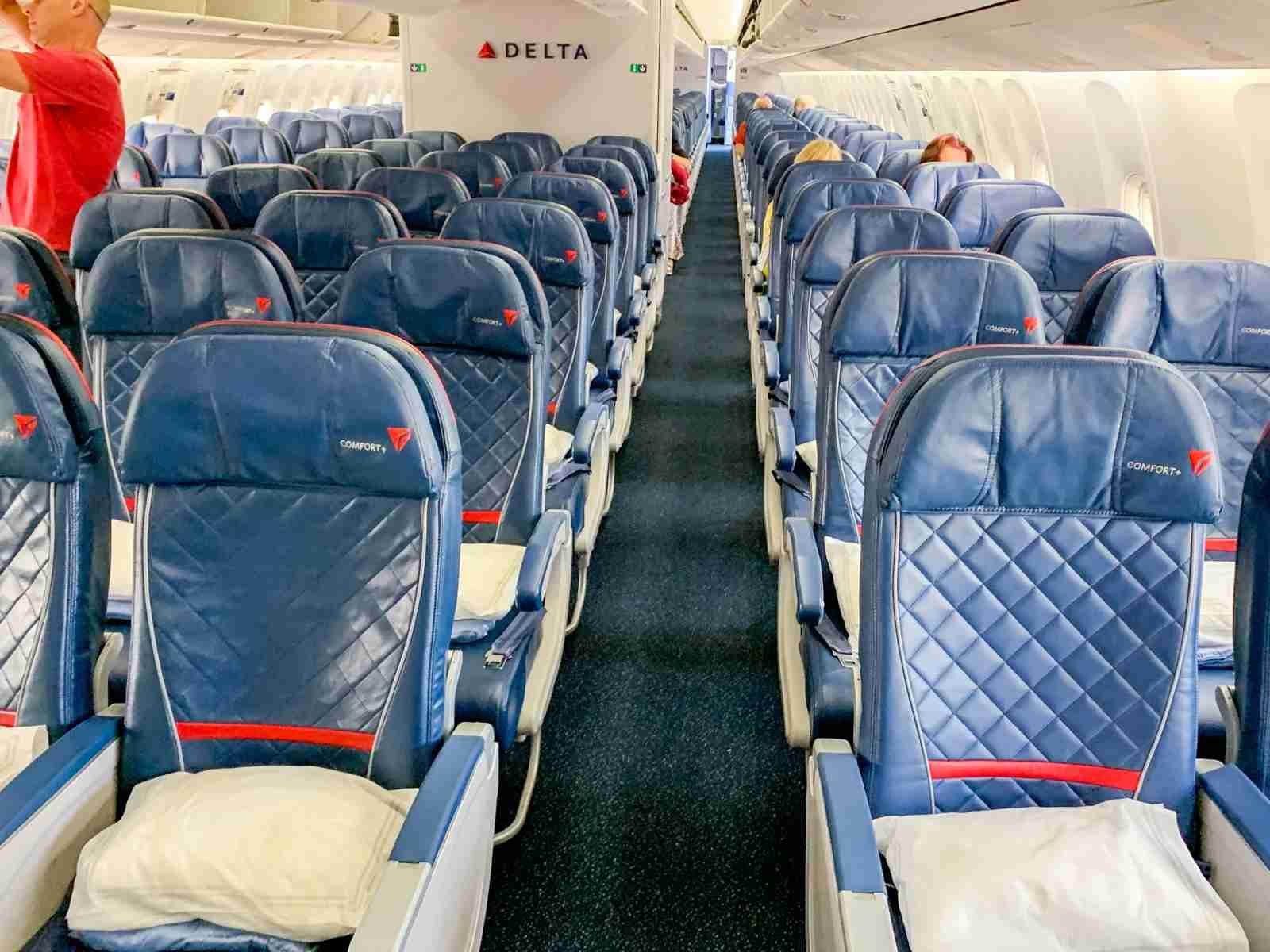 Delta Comfort Cabin on the Delta 767-300ER.