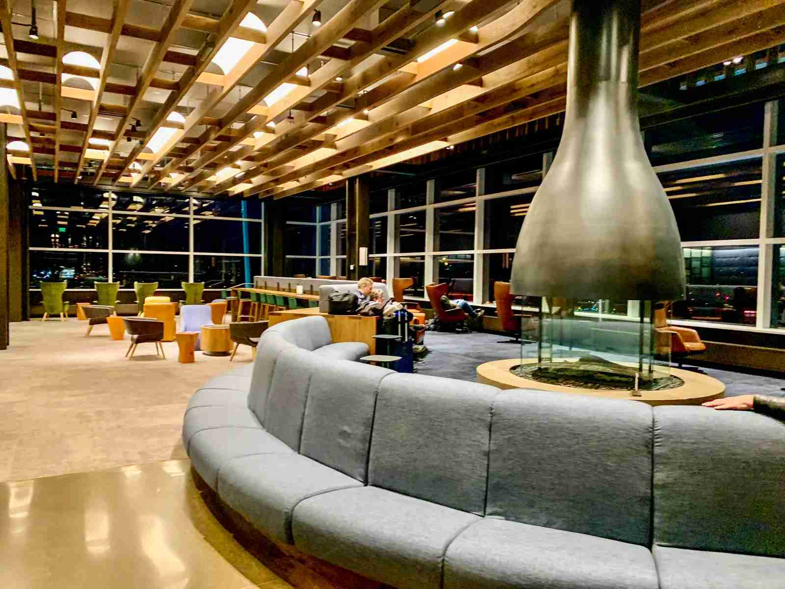 Alaska Airlines lounge in Seattle. (Photo by Clint Henderson / The Points Guy)