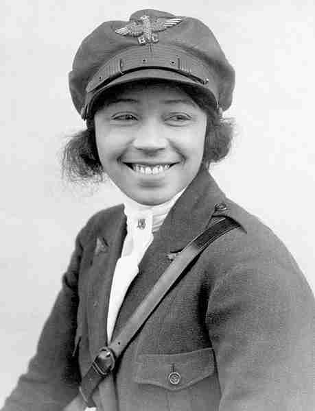 Bessie Coleman, (Photo in the public domain)