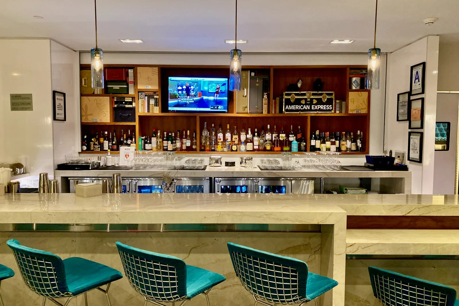 Amex Centurion Lounge in LaGuardia (Zach Griff/The Points Guy)