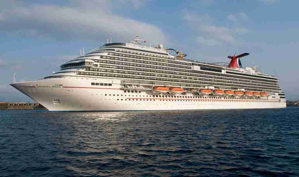The 3,690-passenger Carnival Magic. (Photo courtesy of Andy Newman/Carnival Cruise Line)
