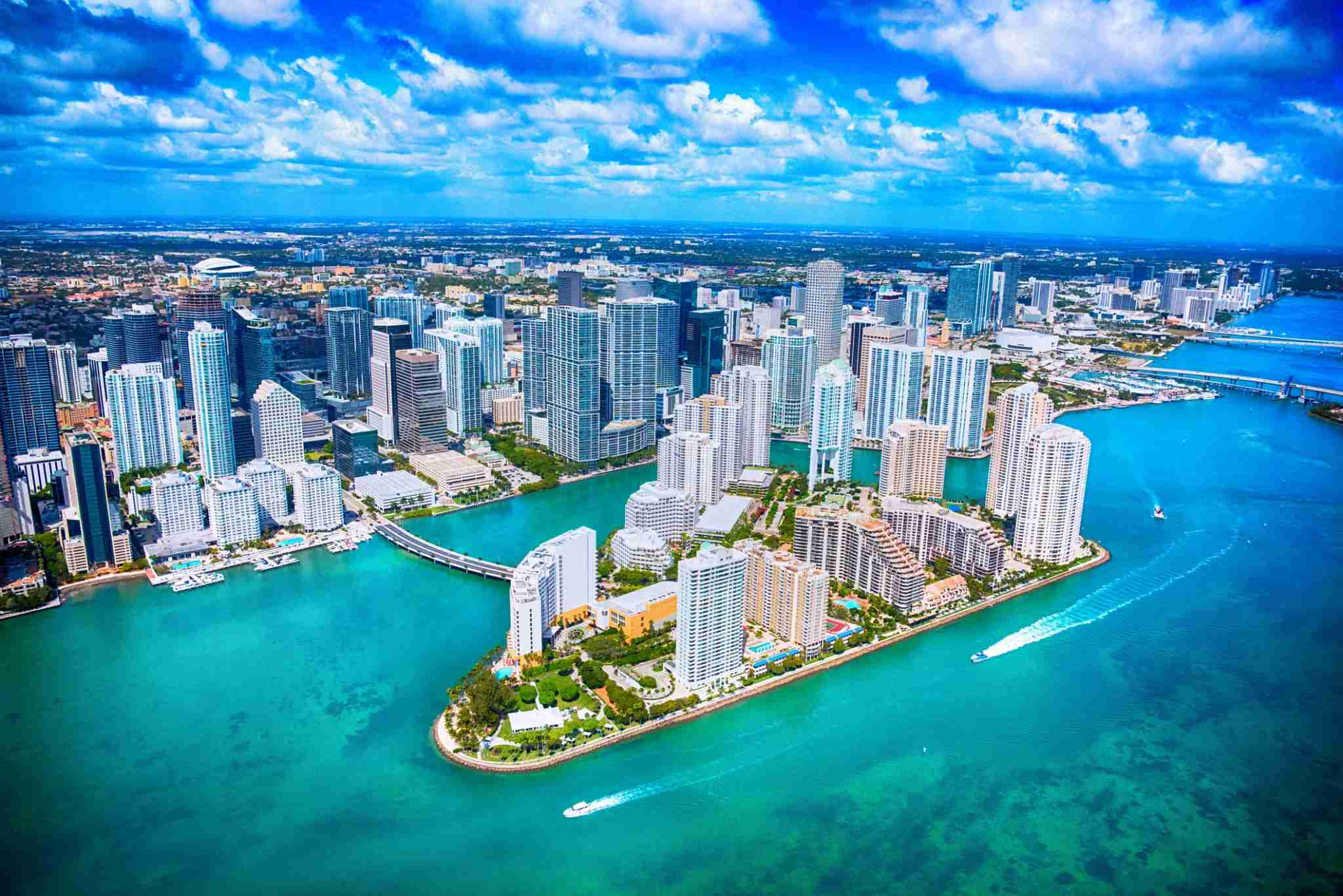 Downtown Miami and Biscayne Bay