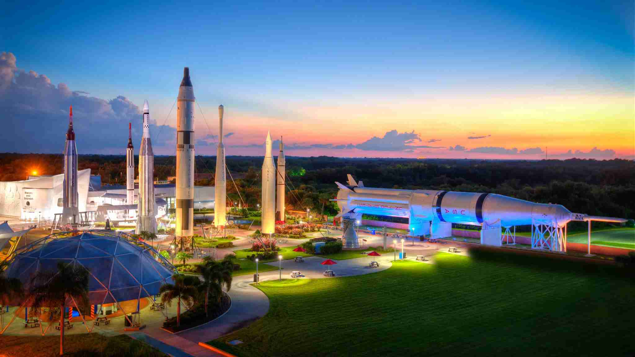 Rocket Garden (Photo courtesy of Kennedy Space Center)