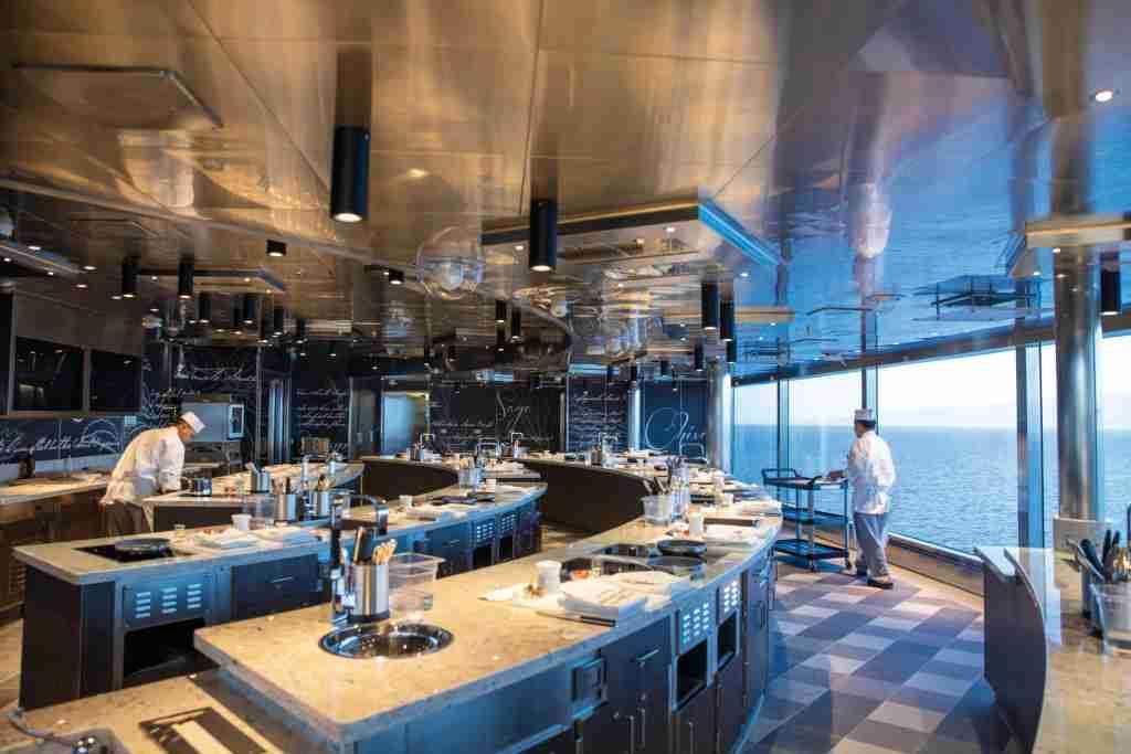 The Culinary Arts Kitchen on Seven Seas Splendor. (Photo courtesy of Regent Seven Seas Cruises)