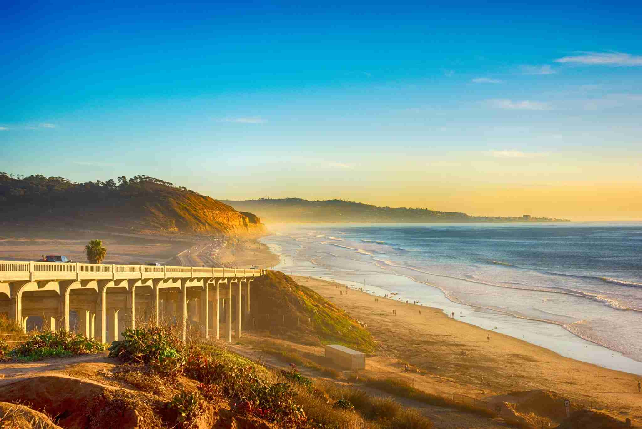 A bridge on the 101 along the beach in Del Mar, California, located just north of San Diego. (Art Wager / Getty Images)