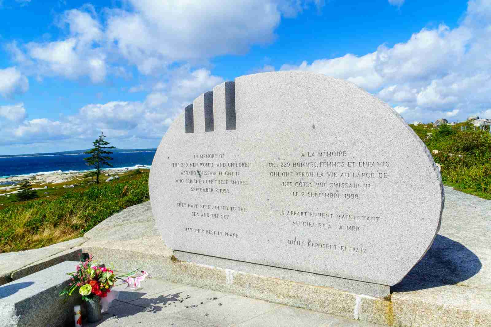 Swiss Air 111 Memorial, in Nova Scotia. (Photo by RnDmS/Getty Images)