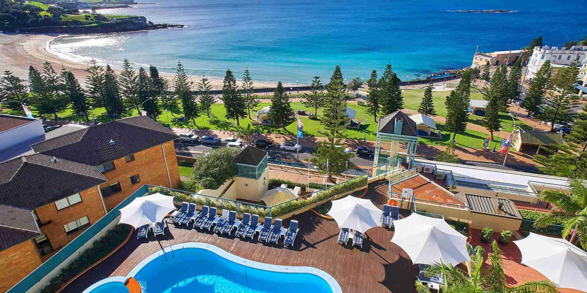 The Crowne Plaza Coogee Beach-Sydney has a fantastic location right by the beach. (Photo courtesy of the hotel)
