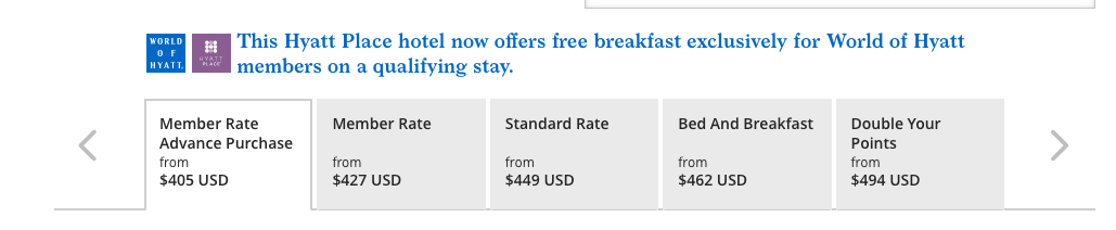 Hyatt Place Keystone rate