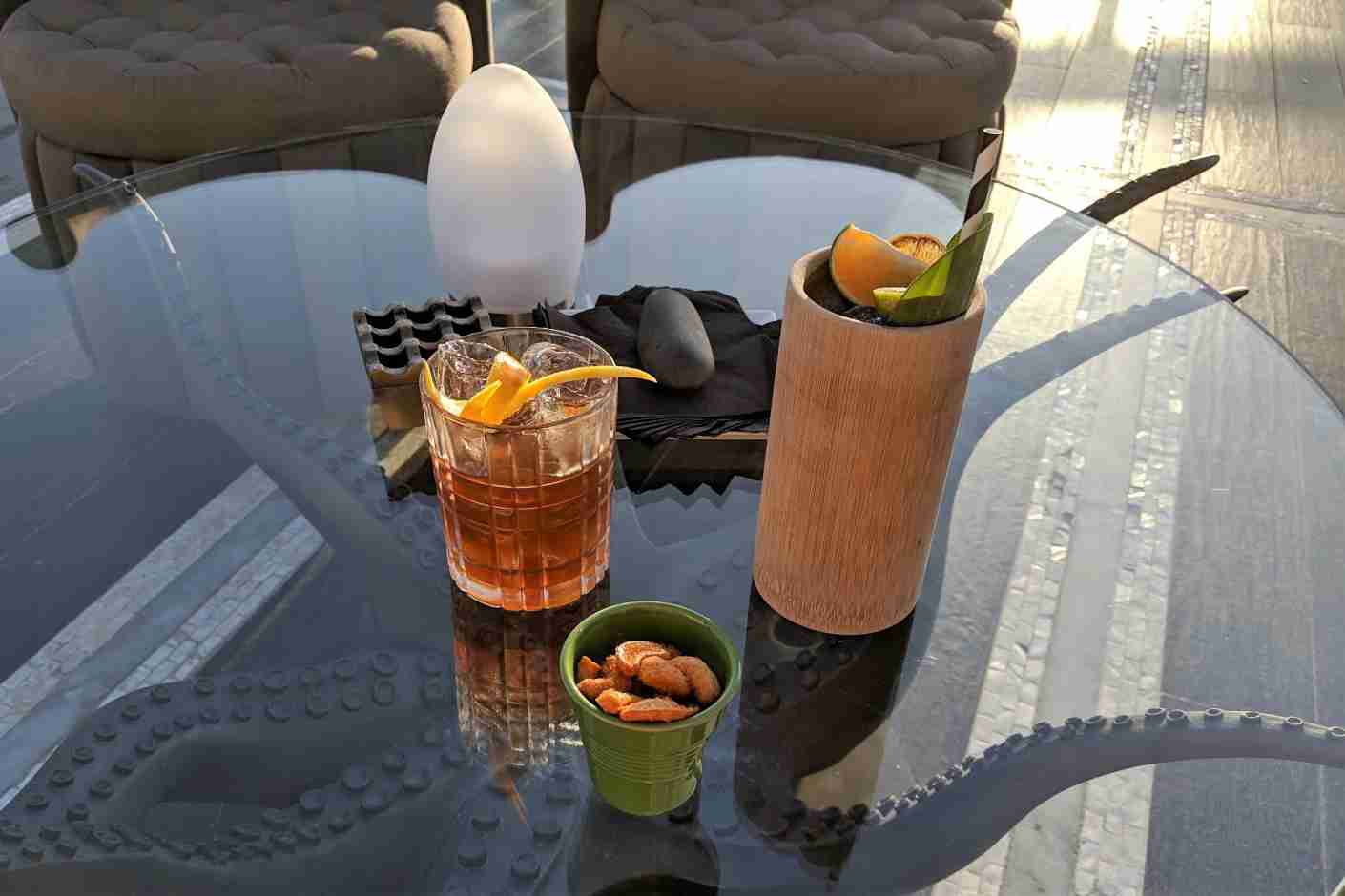 The Nobleman, the drink on the left, is very strong and complex.