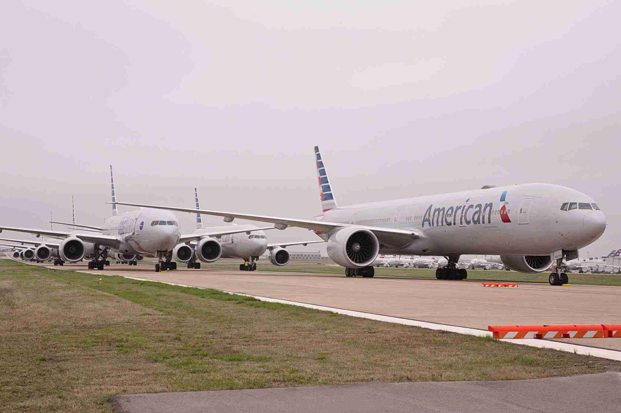 American Airlines jets parked in Tulsa during the coronavirus pandemic. (Photo courtesy of American Airlines)