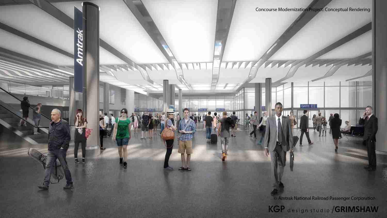 (Union Station in Washington D.C. Conceptual Design Credit: KGP Design Studio/ Grimshaw)