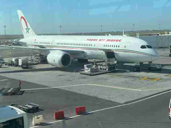 A Royal Air Maroc Boeing 787-8 at Casablanca's Mohammed V International Airport. (Photo by Benét J. Wilson/The Points Guy)