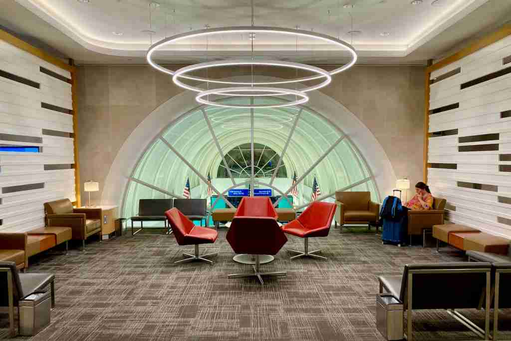 Flagship Lounge LAX seating area