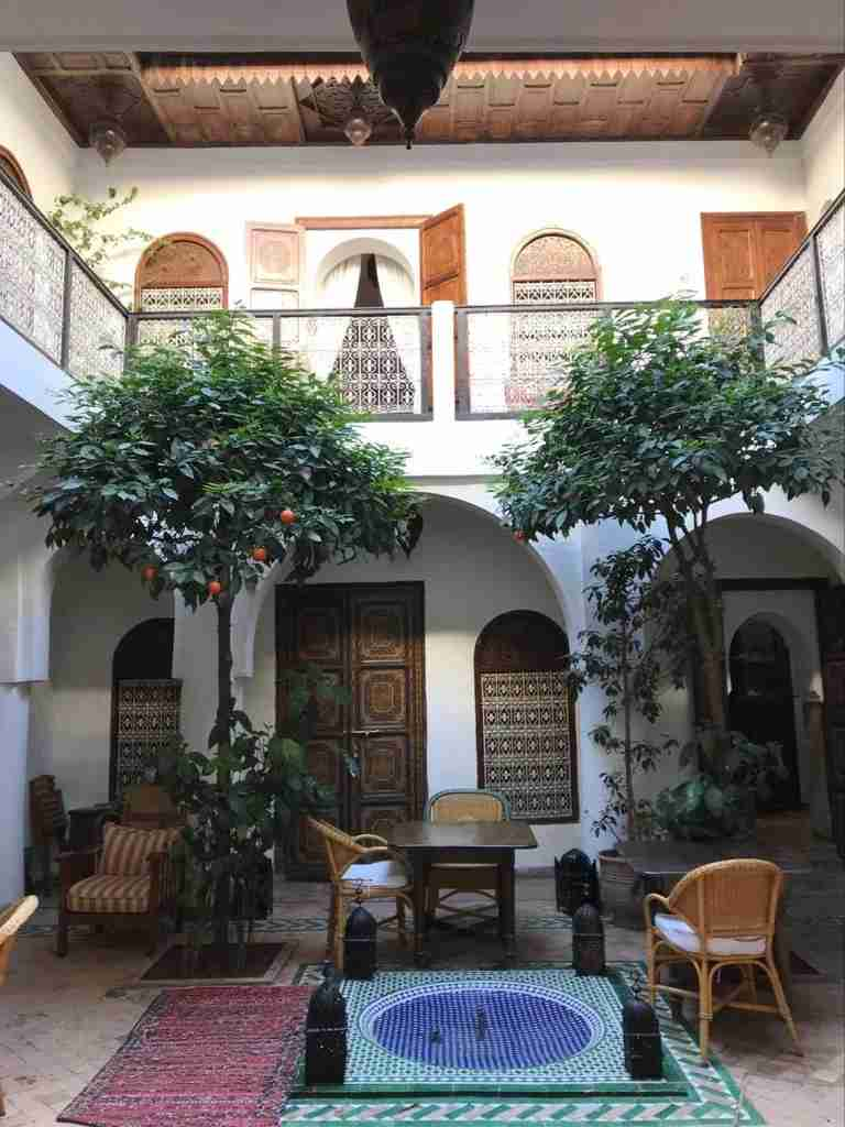 The main seating area Riad l