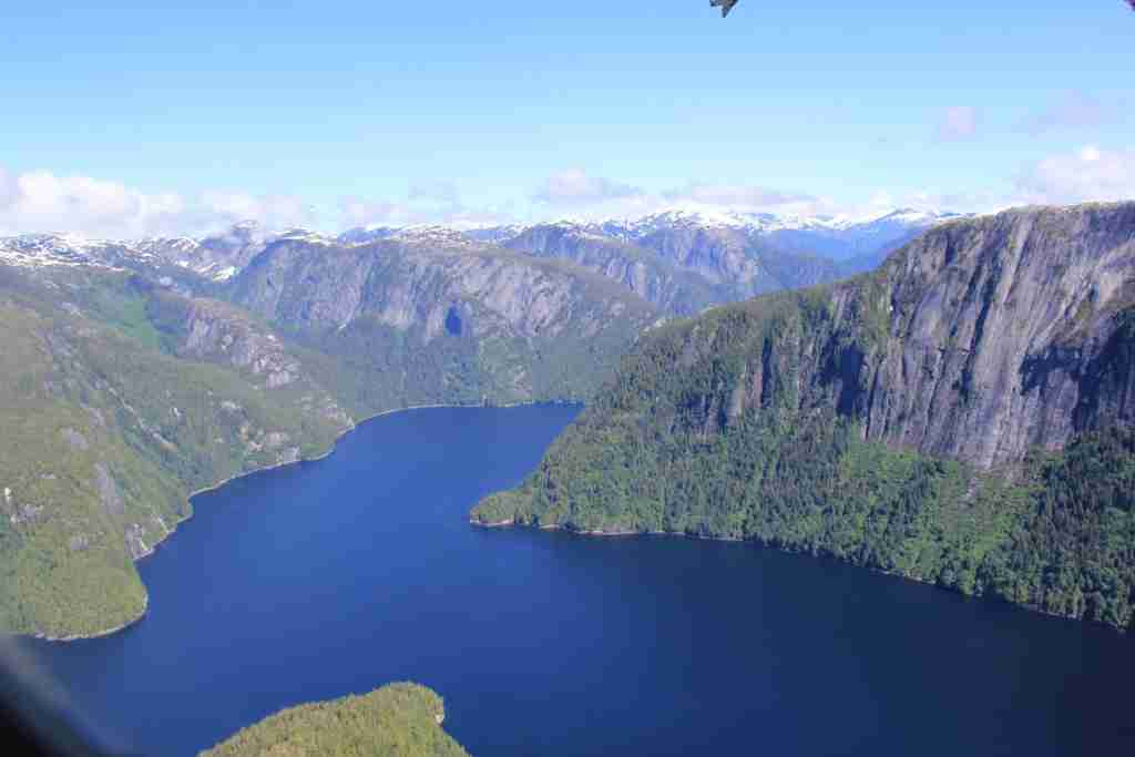 A fjord in Misty Fjord National Monument (Photo courtesy of the Ketchikan Tourist Bureau).
