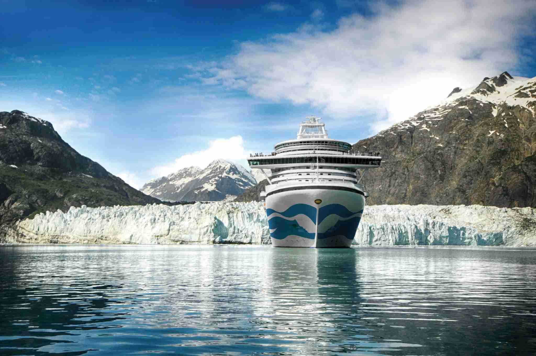 A Princes Cruises ship in Alaska. (Photo courtesy of Princess Cruises)