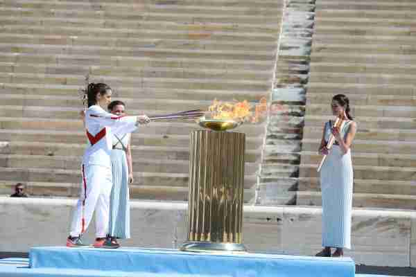 Olympic flame starting its journey to Japan (Photo courtesy of International Olympic Committee)