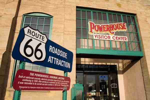 The Powerhouse Visitor Center and Route 66 Museum in Kingman, AZ. (Photo by Richard Cummins/Getty Images)