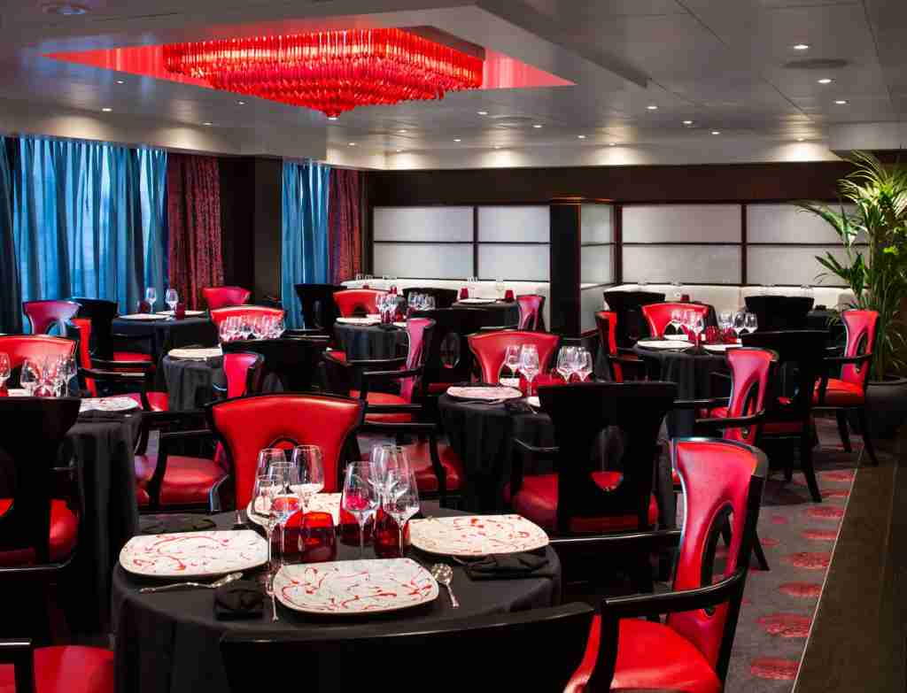 The Red Ginger restaurant on the Oceania Cruises ship Sirena. (Photo courtesy of Oceania Cruises).