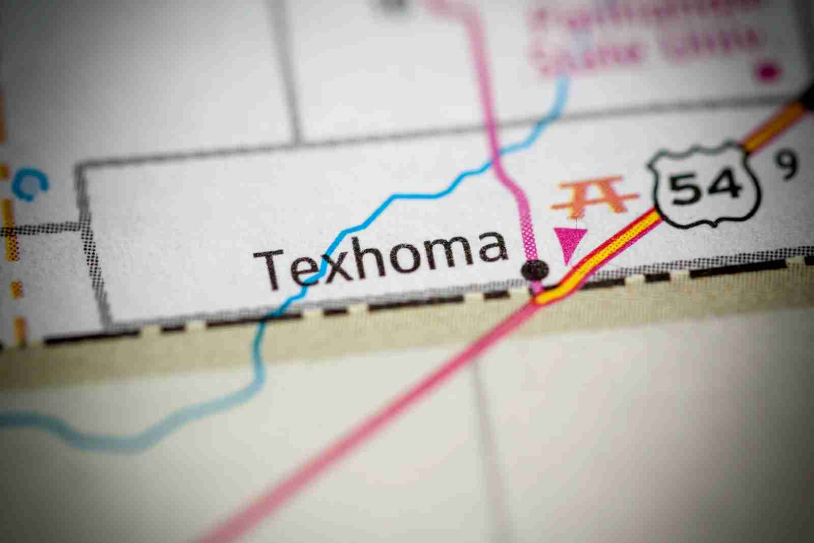 Texhoma. (Photo by SevenMaps/Shutterstock)
