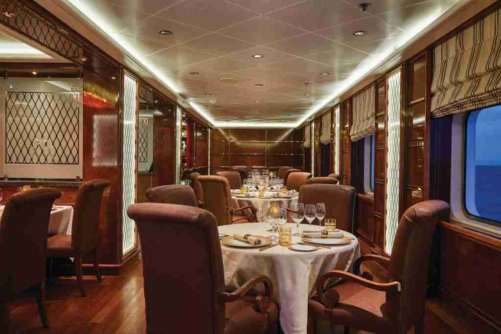 La Dame serves high-end French cuisine. (Photo courtesy of Silversea).