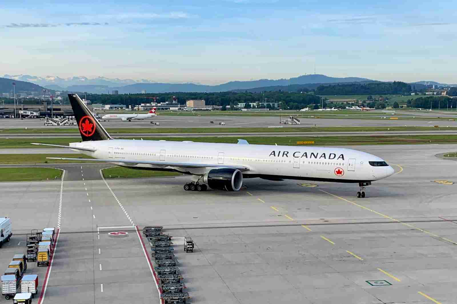 An Air Canada Boeing 777 (Photo by Zach Griff/The Points Guy)
