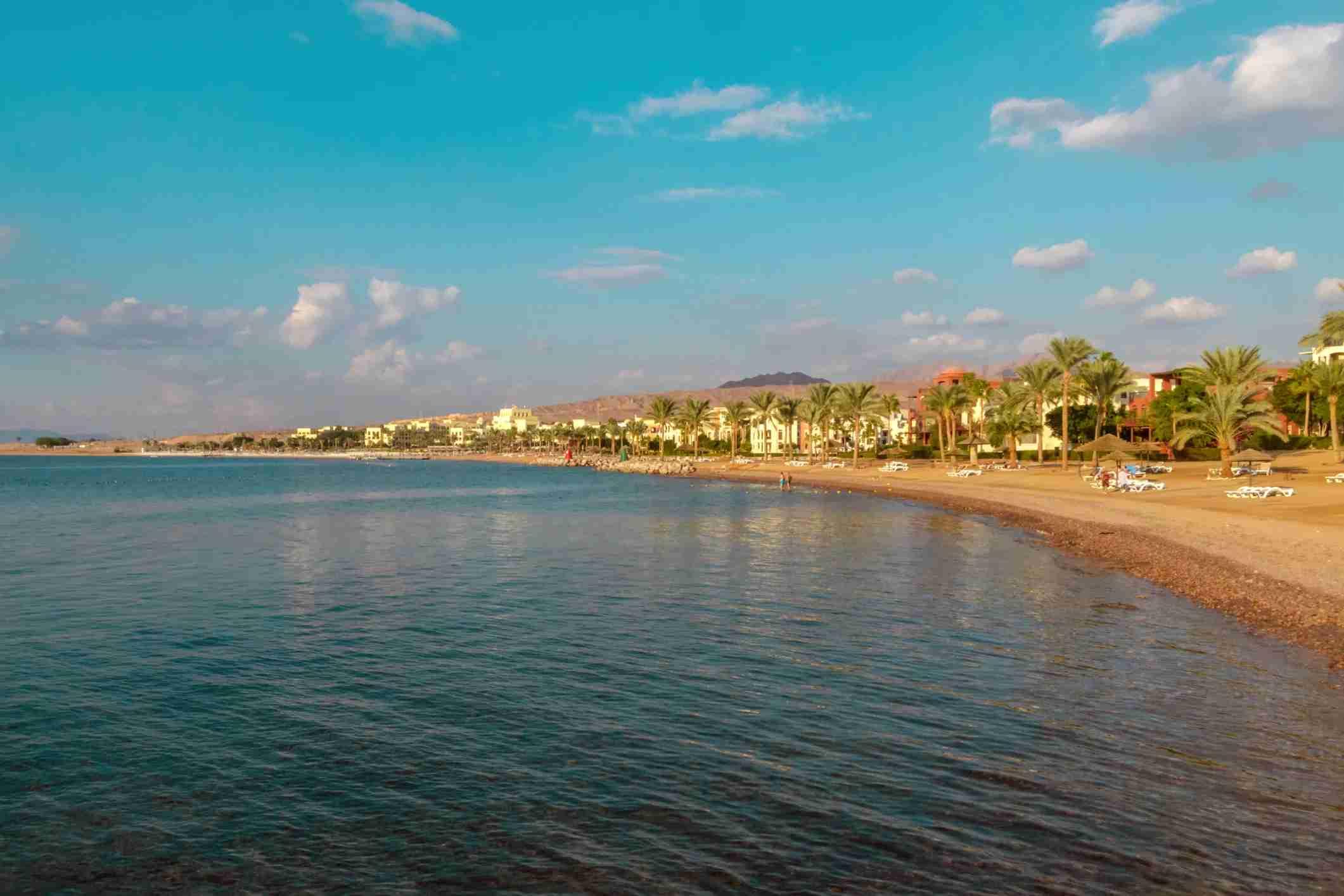 A beach in Aqaba, Jordan. (Photo via Getty Images)