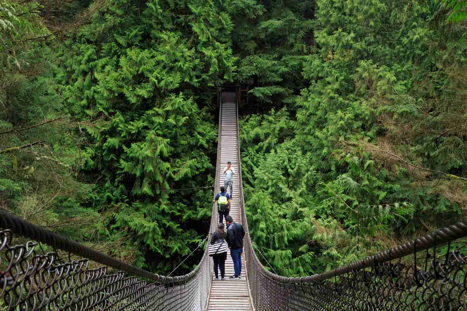 The Lynn Canyon Park Suspension Bridge in Vancouver. (Photo by Richard Cummins/Getty Images)