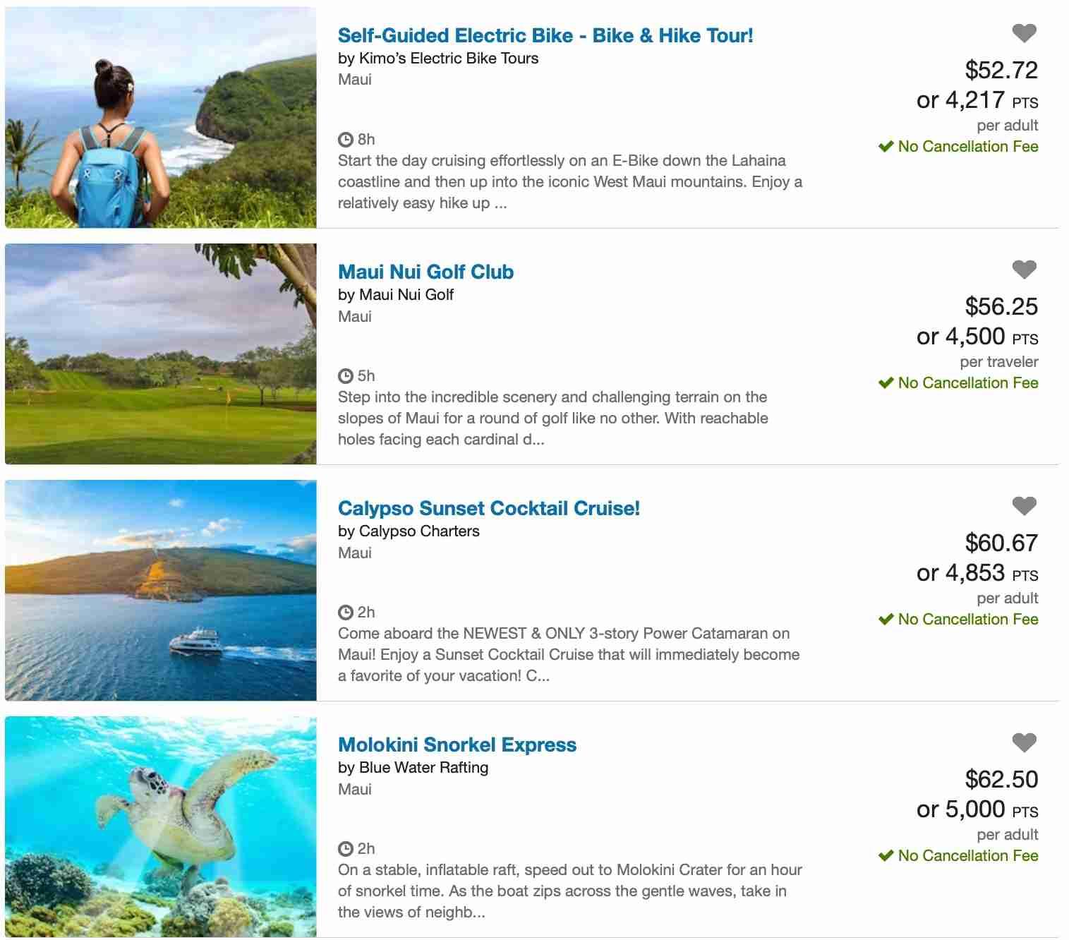 Maui activities Ultimate Rewards