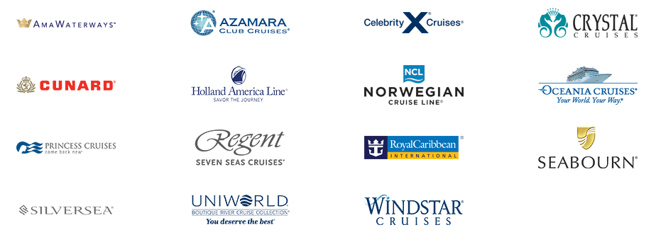 Cruise lines bookable using the Cruise Privileges Program.