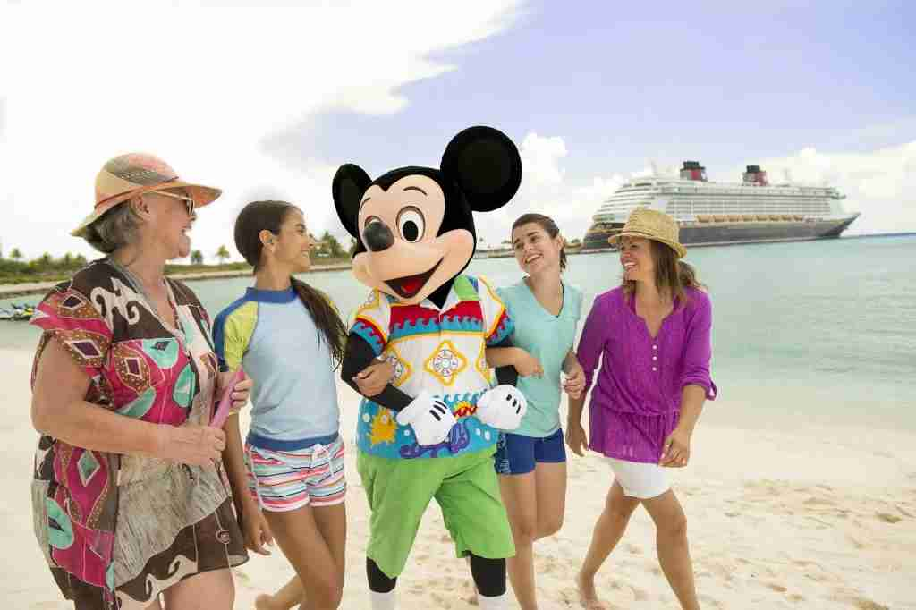 Disney Cruise Line mickey beach