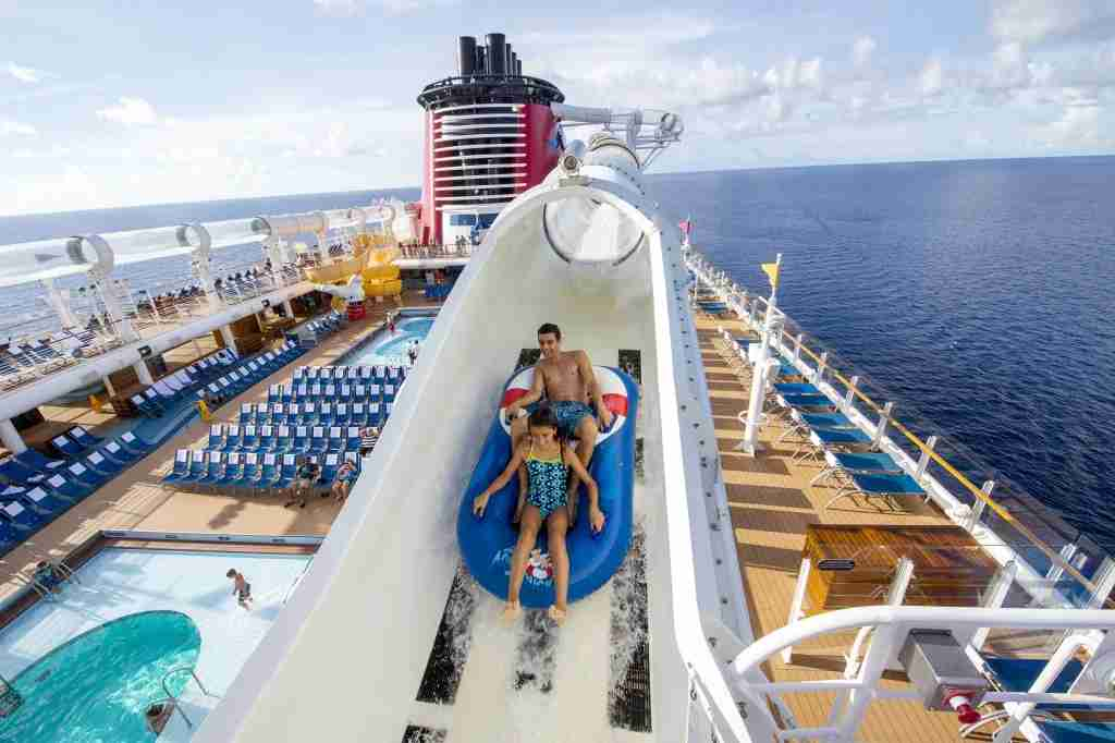 Disney Fantasy waterslide