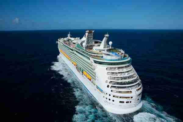 A Royal Caribbean vessel at sea. (Photo courtesy of Royal Caribbean).