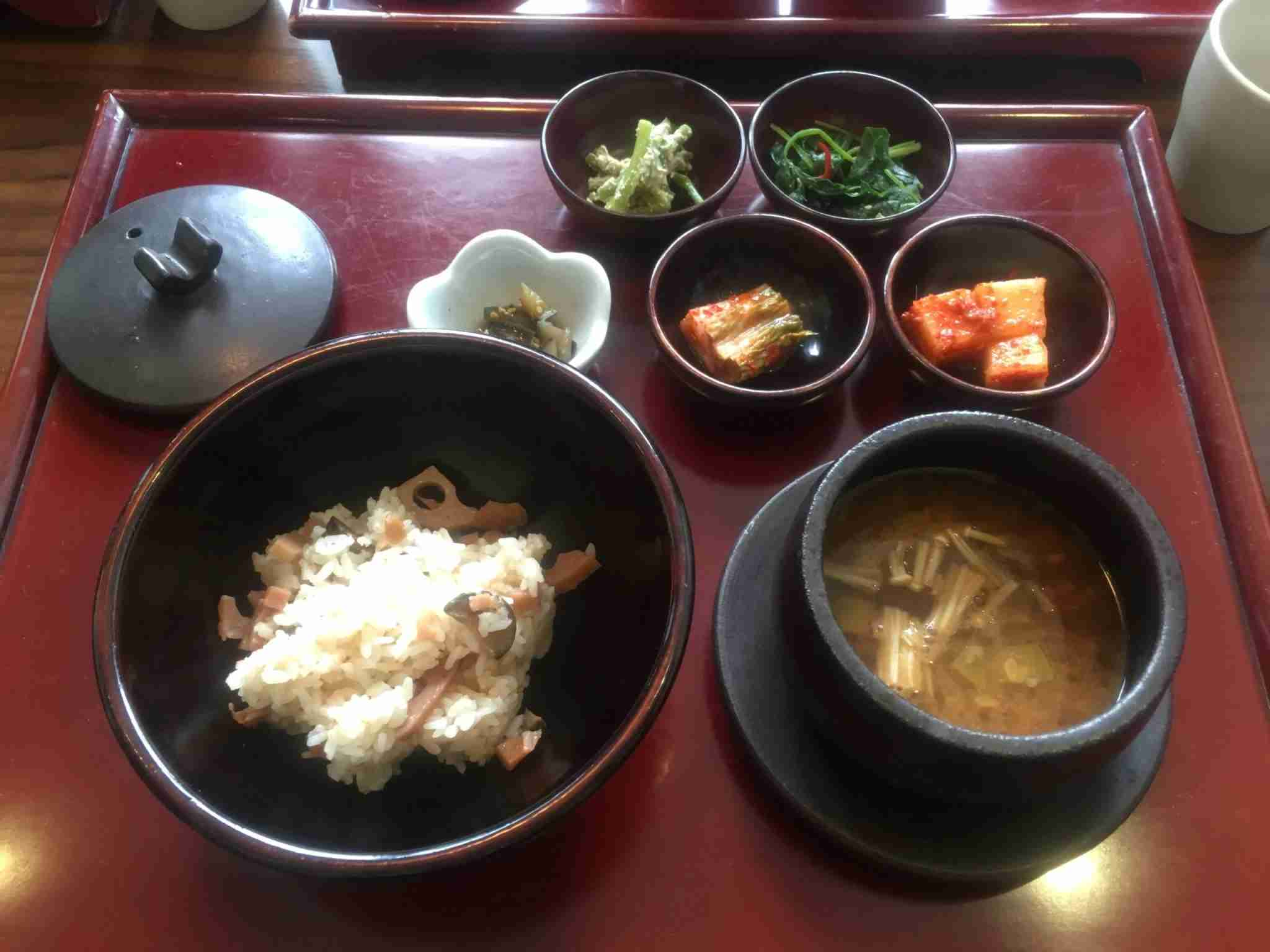 Part of my Korean temple food meal at Sanchon in Seoul, South Korea. (Photo by Benét J. Wilson/The Points Guy)
