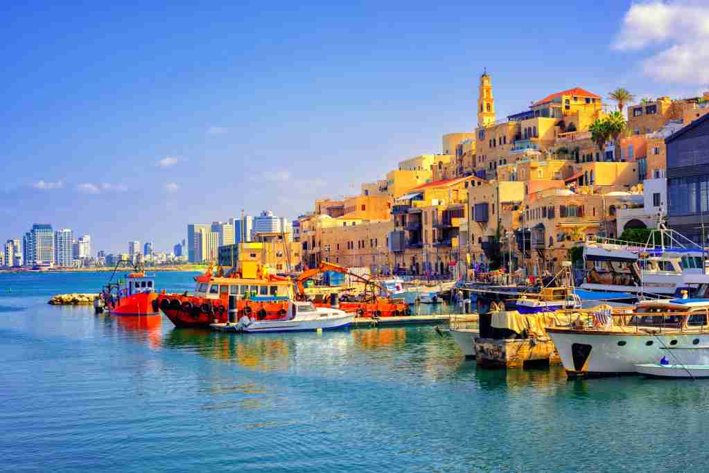 Old town and port of Jaffa in Tel Aviv